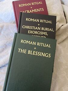 Details about Three Volume Set Roman Rituals: Sacraments, Exorcisms and  Blessings