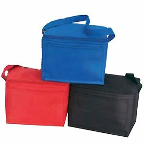 Insulated-6-Pack-Nylon-Cooler-Picnic-Lunch-Bag-Box-FoodWater-Cooler-9-034-x-6-034-x-5-034