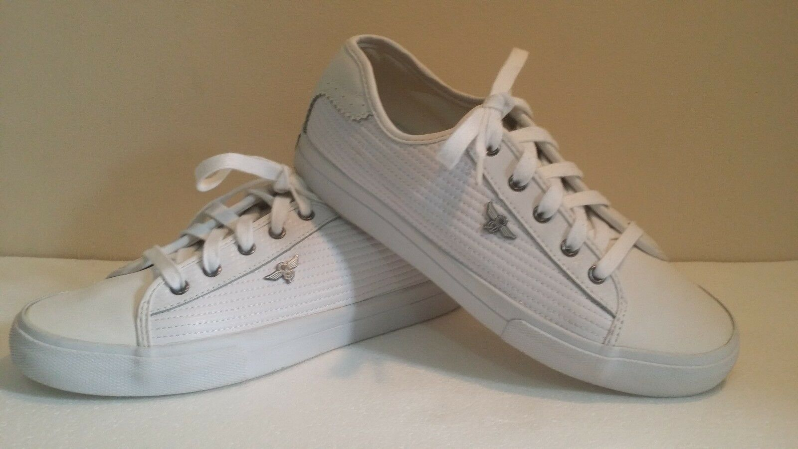 Men's Creative Recreations White Ripple Trainers Size 8.