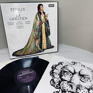 PONCHIELLI: LA GIOCONDA ~ DECCA 3 LP BOX SET 364-6 ~ TEBALDI / LAMBERTO GARDELLI