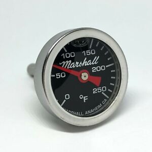 I-14-LB Direct Mount Engine Thermometer, 0-250F, Black Dial, Liquid Filled