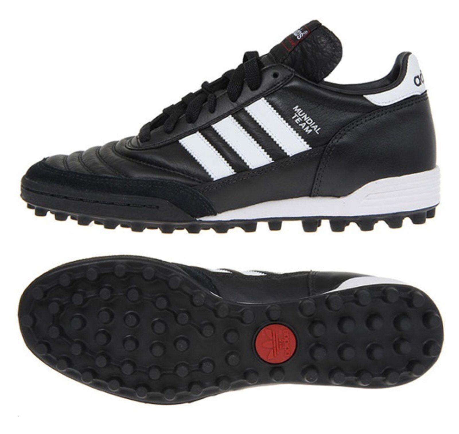 Adidas mannen Mundial Team TURF Cleats Futsal zwart wit schoenen Voetbal Spike 019228