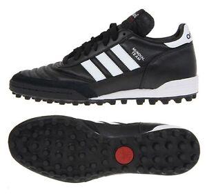 Détails sur Adidas Hommes Mundial Team Turf Crampons Futsal noir blanc Chaussures de foot crampon 019228 afficher le titre d'origine