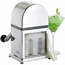 VonShef Ice Crusher 900ml Manual Mirrored Tray Scoop Non-Slip Smoothies Cocktail