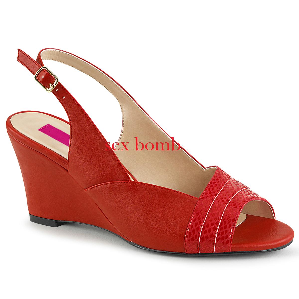 SANDALI tacco 7,5 ZEPPA dal OPACO 39 al 46 ROSSO OPACO dal cinturino scarpe SEXY glamour 19312d