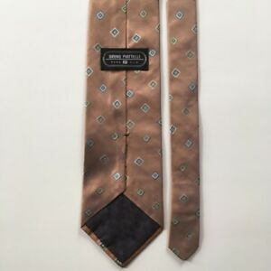 19d40d1fe1b4 Bruno piattelli tie brown with blue green small pattern 100% silk ...