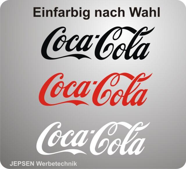 Coca Cola Aufkleber für Kühlschrank Auto Rad ... 30x9cm einfarbig nach Wunsch