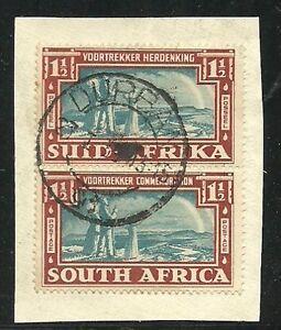 Album-Treasures-South-Africa-Scott-80-Voortrekker-Family-Pair-on-Piece-VFU-CDS