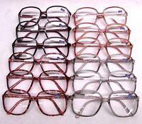 Bifocal Reader Reading Glasses Clear Oversize Lens Assorted Frames Lot Of 12