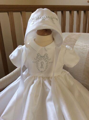 Abito DA BATTESIMO /& BONNET-Heirloom Personalizzato Battesimo Dress-Baby Boy Girl
