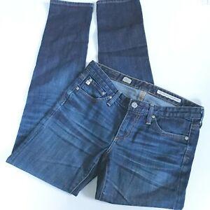 AG-Adriano-Goldschmied-The-Stilt-Cigarette-Leg-Blue-Denim-Jeans-Sz-27R