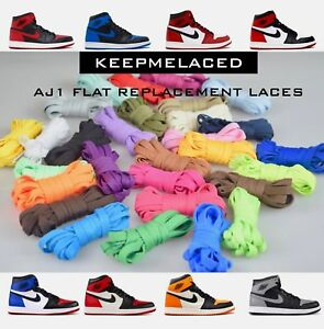 Jordan 1 Replacement Colorful Shoelaces AJ1 Laces Bred LOT BUY 2 GET 1 FREE