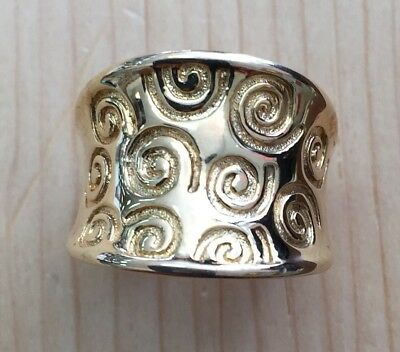 Gorgeous 18k Gold Over Sterling Silver Ring Size 7