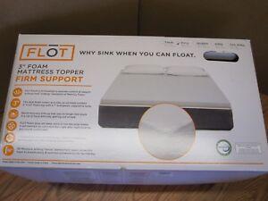 Flot 3 Foam Mattress Topper Firm Support Fits Full Size Bed