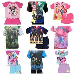 short de pyjama enfants gar on filles enfants court pyjama 12 mois 12 ans ebay. Black Bedroom Furniture Sets. Home Design Ideas
