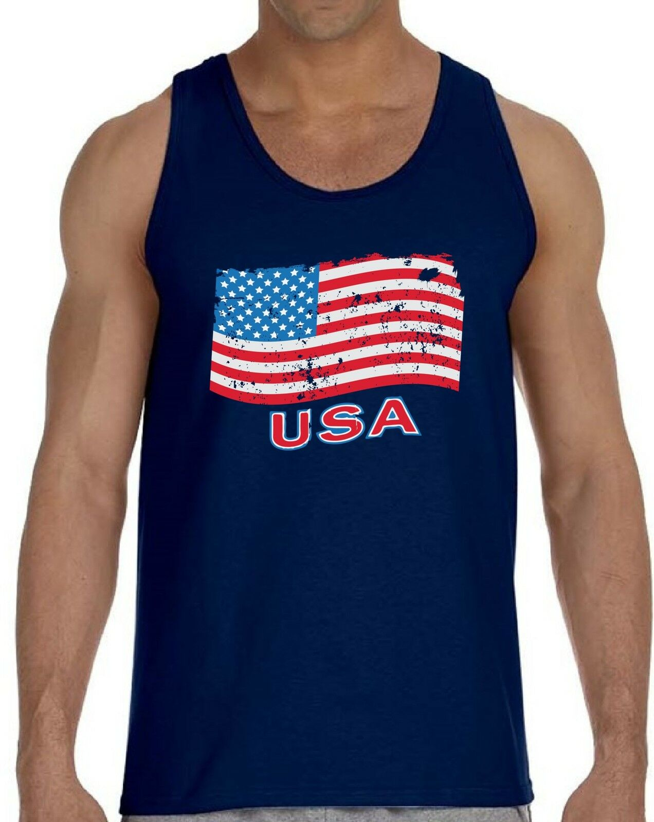 American Flag Peace Sign 4th of July USA Men/'s Tank Top Singlet Independence day
