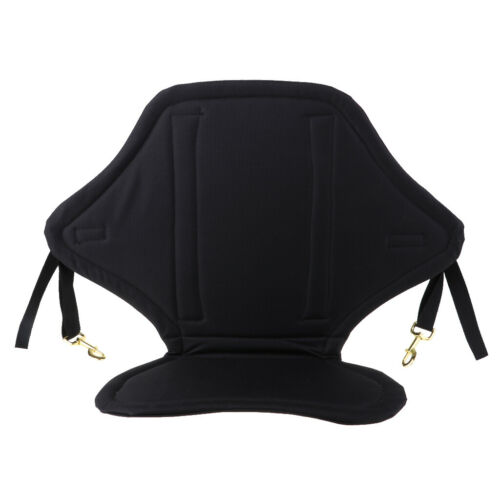 Soft Kayak Seat Adjustable Sit On Top Canoe Back Rest Support Cushion Black Pad