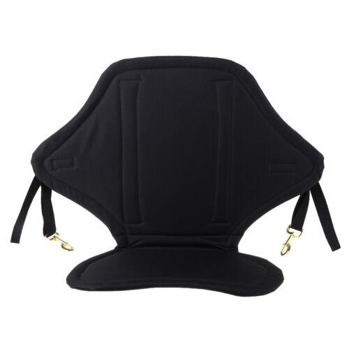 Soft Kayak Seat Adjustable Sit On Top Canoe Back Rest Support Cushion Black Pad