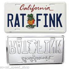 RAT FINK CALIFORNIA LICENSE PLATE ED ROTH HOT ROD FORD CUSTOM VW GASSER VAN BUS