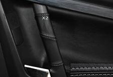 GREY STITCH 2X REAR DOOR HANDLE SKIN COVERS FITS VAUXHALL OPEL VECTRA C SIGNUM