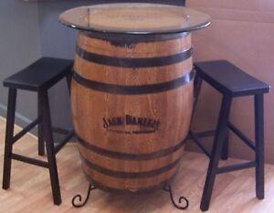 J D Branded Engraved Sanded Finished Whiskey Barrel 30