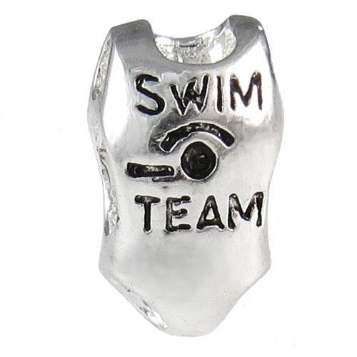 5pcs Swimsuit Swimwear Silver European Spacer Charm Beads For Bracelet LEB653