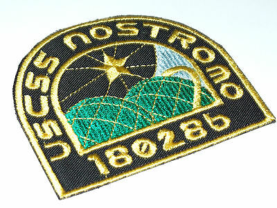 USCSS NOSTROMO Crew Uniform Embroidered Iron On Patch - 2 Badges