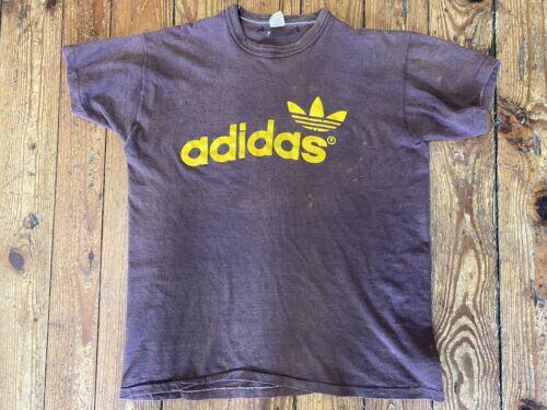 Vintage Adidas T-shirt 70s 80s Trefoil Logo Russe… - image 1