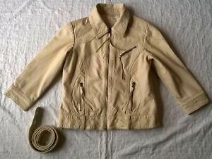 Veste-Jacket-cintre-en-Cuir-pour-Femme-taille-M