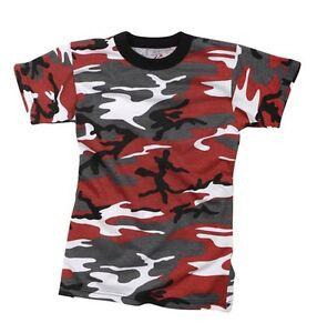 Kids-Red-Camo-T-Shirt-COMBAT-DRESS-PLAY-ARMY