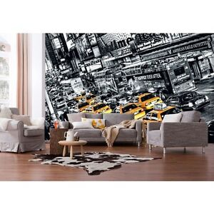 giant wallpaper 368x254cm new york city streets yellow. Black Bedroom Furniture Sets. Home Design Ideas