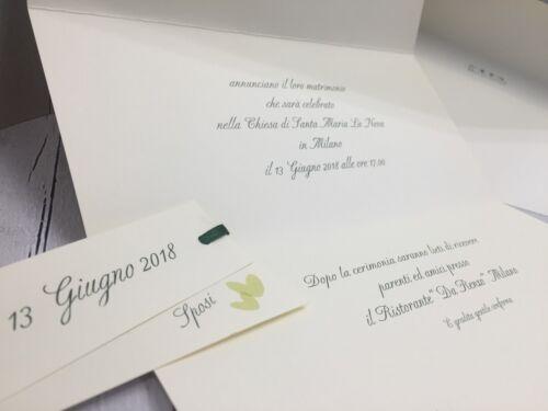 PARTECIPAZIONI NOZZE inviti matrimonio BUONANNO sposi E006 WEDDING