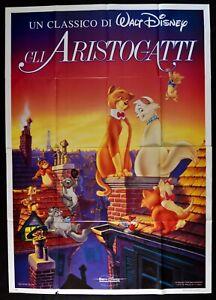 Werbeplakat-Gli-Aristogatti-The-Aristocats-Walt-Disney-Cartoon-Zeichentrick-M14