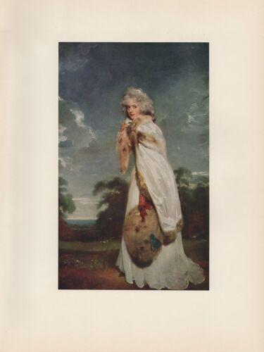 "1956 Vintage BRITISH /""ELIZABETH FARREN LATER COUNTESS DERBY/"" COLOR Lithograph"