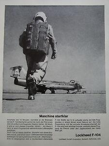11-1963-PUB-LOCKHEED-F-104-STARFIGHTER-PILOTE-CASQUE-HELMET-ORIGINAL-GERMAN-AD