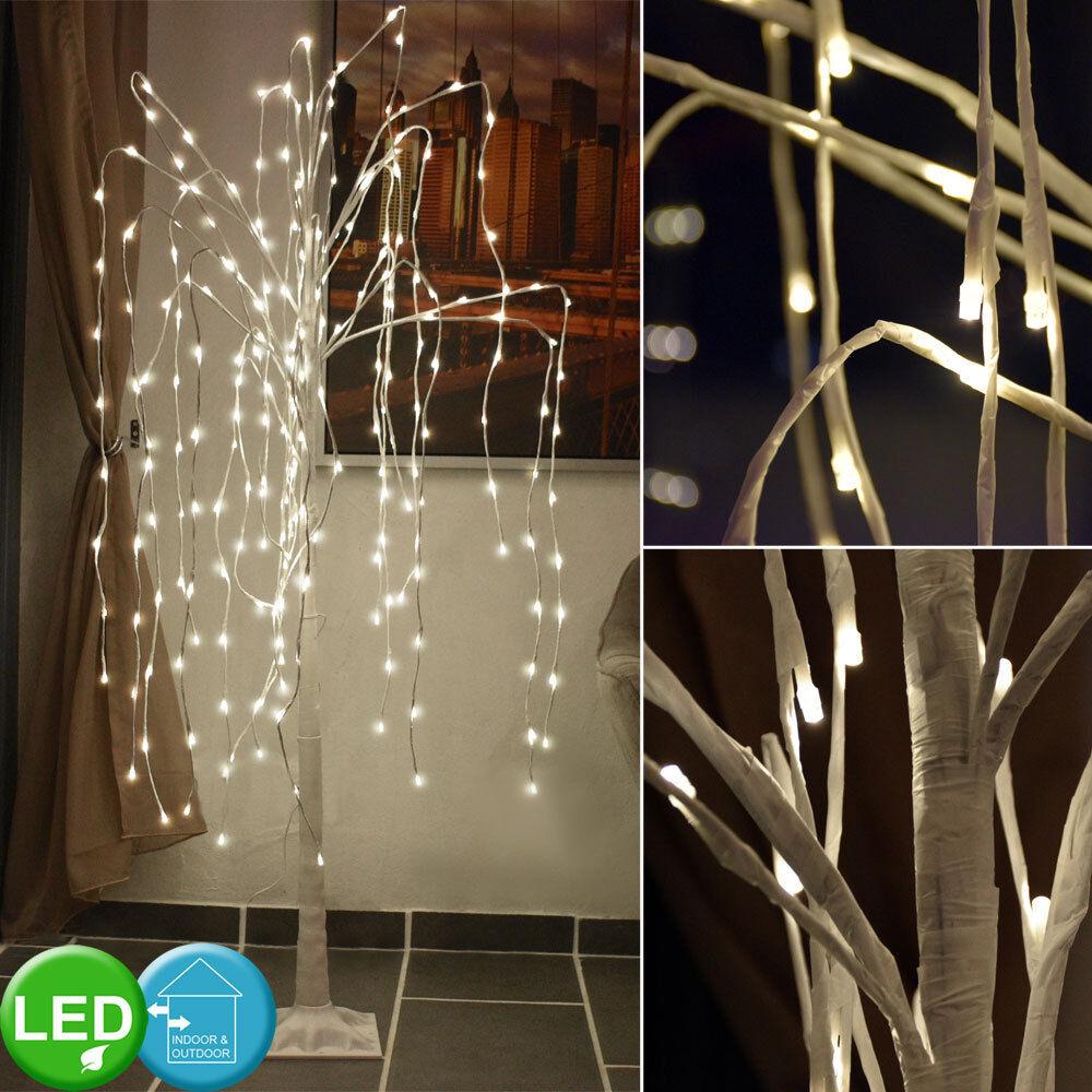 240x LEDs Deko Baum Trauer Weide Außen Beleuchtung Garten Weg Stand Steh Lampe