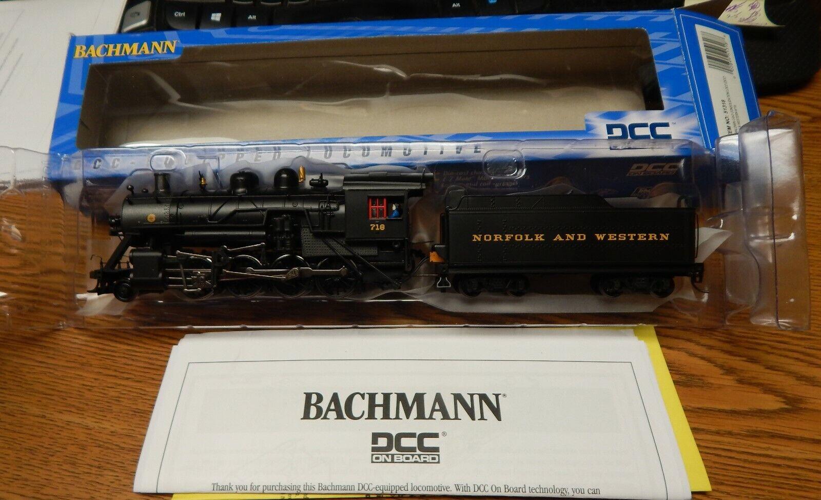 BACHMANN 51318 NORFOLK & WESTERN BALDWIN 2-8-0 STEAM CONSOLIDATION ENGINE NIB HO