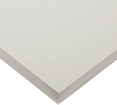 "Plastic Sheet 1//8/"" x 4/"" x 4/"" Black Pack of 2 HDPE High Density Polyethylene"