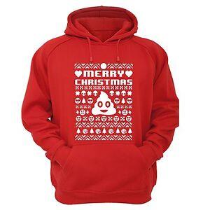 Emoji Poop Smiley Funny Ugly Christmas Sweater Men Women Hoodie