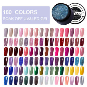 LEMOOC-180-Colors-5ml-Nail-UV-Gel-Polish-Nail-Art-UV-LED-Gel-Color-Soak-Off-DIY