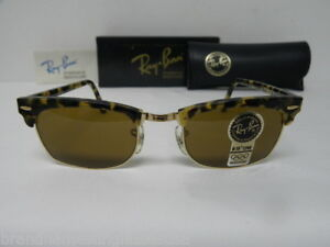 cc0a47eba0c New Vintage B L Ray Ban Clubmaster Square Blonde Tortoise W1483 ...