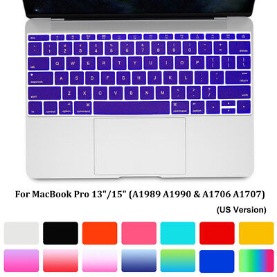 2018 Released Latest New Keyboard Cover Macbook Pro 13 15 with//without Touch Bar
