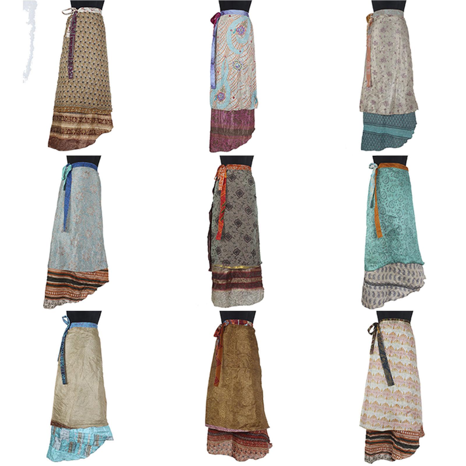 5 Pcs Mix Skirts PLUS SIZE Vintage Silk Magic 38