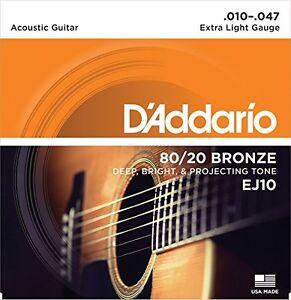 D-039-Addario-EJ10-Bronzo-Corde-Chitarra-Acustica-Luce-Extra-10-47
