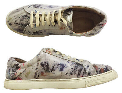 Anntian Triple Major Sz 41 Unisex Leather Lowtop Sneakers Paint Splash Print Ebay