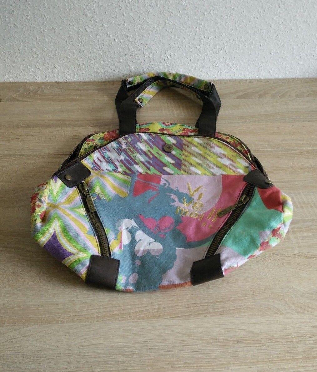 14d39164d3791 Desigual Damen Tasche NP 69.- Handtasche Shopper Schultertasche Bunt TOP  TOP TOP