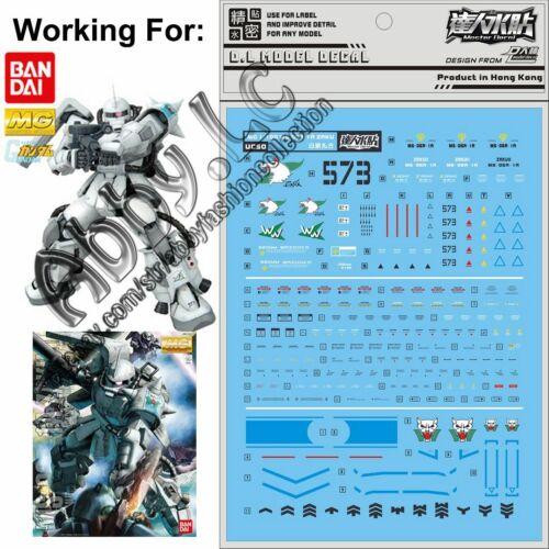 for MG 1//100 MS-06R-1A Shin Matsunaga/'s Zaku II Gundam DL Model WaterSlide Decal