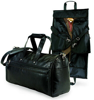 """GP Estate 21"""" Koskin Leather Carry-On 2-in-1 Sports Duffel Business Garment Bag"""