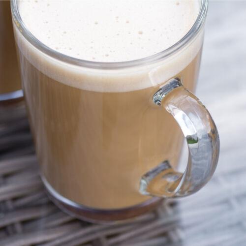 Set of 4 300ml Glass Coffee Mugs Tea Cups Cappuccino Latte Hot Drinks Glasses