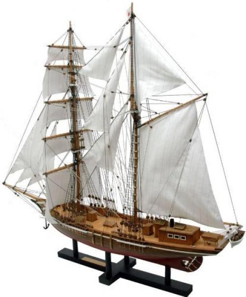 Woody JOE 1 70 sailing ship Model Oshgold round Wooden Mini Model Kit Japan